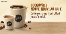 Café McDonald's offert sur simple visite !