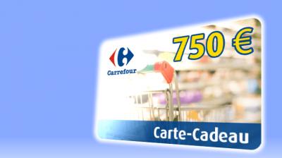 Gagnez une carte cadeau Carrefour de 750€