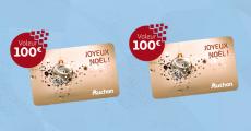 A remporter : 100 cartes cadeaux Auchan de 100€