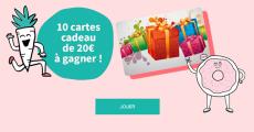 10 cartes cadeaux Cora de 20€ à remporter