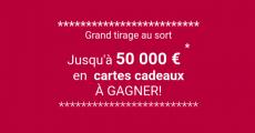 100 e-cartes cadeaux Leclerc de 500€ à remporter