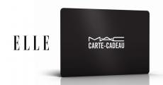 Carte cadeau MAC de 15€ offerte dans le nouveau numéro ELLE Magazine