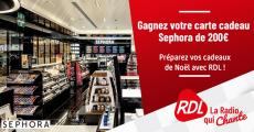 Carte cadeau Sephora de 200€ à gagner