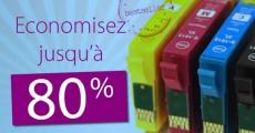 Jusqu'à 80€ d'économies sur les cartouches d'encre 0 (0)