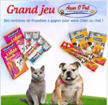 Recevez des friandises pour votre chat ou chien !