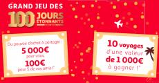 En jeu : 1 bon d'achat Auchan de 5000€ et 10 bons Auchan Voyage de 1000€