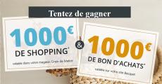 A gagner : 20 bons d'achat Becquet et Grain de Malice de 100€