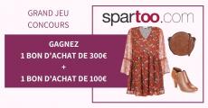 En jeu : 8 bons d'achat Spartoo de 100 à 300€ 4.5 (2)