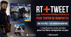 A gagner : 1 console de jeux PS4 + 1 jeu vidéo Call Of Duty