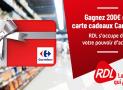 Carte cadeau Carrefour de 200€ offerte