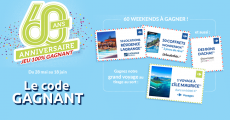 En jeu : 5'000'000 de codes de réduction, 1 voyage à l'île Maurice, 50 coffrets Wonderbox et+