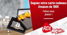 Tentez de remporter des cartes cadeaux Amazon de 100€