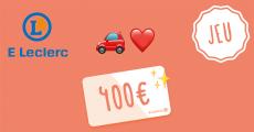 1 carte cadeau E.Leclerc de 400€ offerte 0 (0)