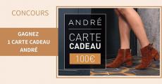 15 cartes cadeaux André de 100€ offertes 0 (0)