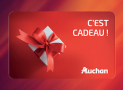 10 cartes cadeaux Auchan de 20€ offertes
