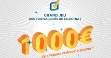 4 chèques cadeaux de 250€ à remporter