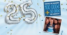 A gagner : 1 chèque de 100'000€ + 200 cartes cadeaux Kadeos de 250€