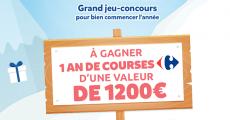 A remporter : 1 an de courses chez Carrefour de 1200€ 0 (0)