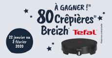 Tentez de remporter 80 crêpières Breizh de Tefal