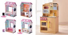 En jeu : 1 cuisine enfant Burlywood, 2 maisons de poupée