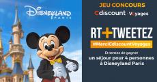 A gagner : 1 séjour pour 4 personnes à Disneyland Paris