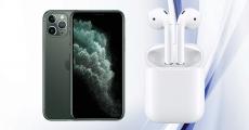En jeu : 1 iPhone 11 Pro + 1 paire d'écouteurs Airpods