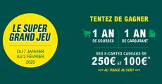 En jeu : 1 an de courses de 4000€, 1 an de carburant de 1000€ et+