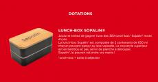 Tentez de remporter 350 lunch-box