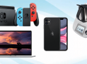 En jeu : 1 Macbook pro, 1 thermomix TM5, 1 iPhone 11 et 1 console Nintendo Switch