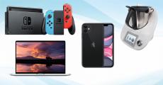 En jeu : 1 Macbook pro, 1 thermomix TM5, 1 iPhone 11 et 1 console Nintendo Switch