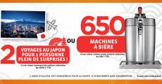 En jeu : 650 machines à bière de 220€ + 2 voyages au Japon de 12500€