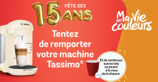 En jeu : 30 machines à café Bosch, 200 paquets de dosettes Tassimo et+