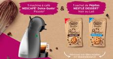 En jeu : 2420 machines à café Nescafé Dolce Gusto, 2420 sachets de pépites Nestlé et+