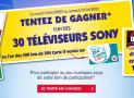 En jeu : 30 TV Sony 55″ de 1199€ + 500 lots de 50€ versés sur la carte U