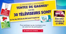 En jeu : 30 TV Sony 55″ de 1199€ + 500 lots de 50€ versés sur la carte U 3.7 (6)