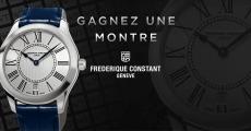 Tentez de gagner 1 montre Frédérique Constant de 630€