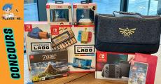 En jeu : 1 pack Nintendo (console Nintendo Switch + jeux et accessoires)