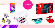 A gagner : 1 console de jeux Nintendo Switch, 8 jeux vidéo, 8 sacs, 10 t-shirts et+