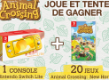 A gagner : 1 console de jeux Nintendo Switch Lite + 20 jeux vidéo