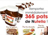 365 pots de Nutella à remporter!
