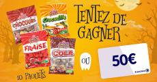 En jeu : 100 paquets de bonbons Copains Copines + 1 carte cadeau E.Leclerc de 50€