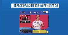 Tentez de gagner 1 console de jeux PS4 Slim + 1 jeu vidéo FIFA 20