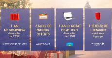 En jeu : 1 an de shopping de 1200€, 1 an d'achat high-tech de 1800€ et+ 0 (0)
