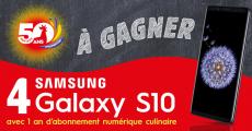A remporter : 4 smartphones Samsung Galaxy S10 de 930€