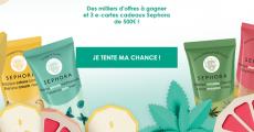 3 e-cartes cadeaux Sephora de 500€ à gagner 0 (0)