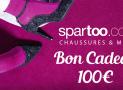 15 bons d'achat Spartoo de 100€ à remporter