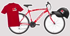A gagner : 3 vélos, 200 t-shirts et 300 casquettes