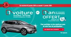 En jeu : 1 voiture Renault Scenic Intens de 31000€ + 65 lots de 350€ versés sur la carte U