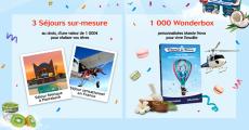 A remporter : 1000 coffrets Wonderbox + 3 séjours de 1000€ 0 (0)
