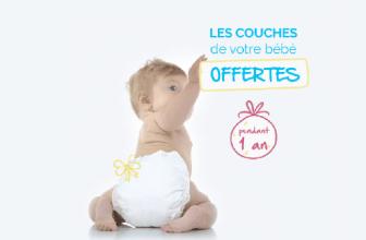 Tentez de remporter 1 an de couches pour bébé